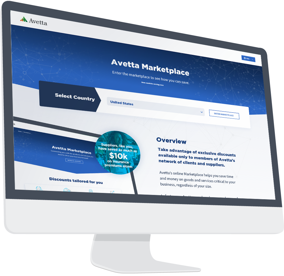 Avetta Marketplace Interface image