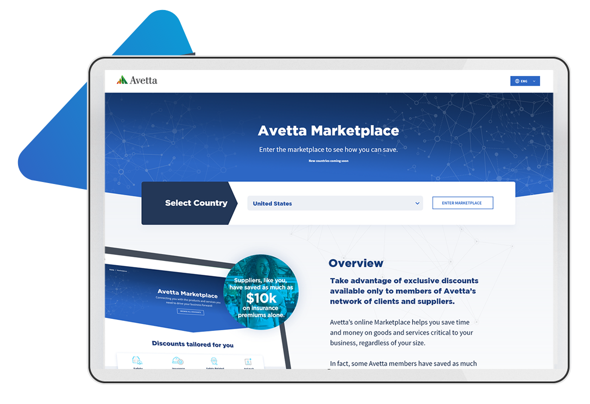 Avetta Marketplace Hero image